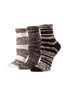 CALVIN KLEIN Three-Pack Ankle Socks