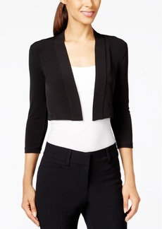 Calvin Klein Three-Quarter Sleeve Bolero Cardigan