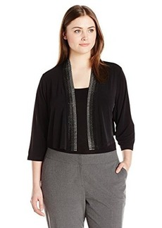 Calvin Klein Women's Plus-Size Embellished Shrug
