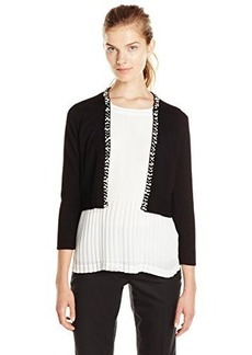 Calvin Klein Women's Shrug with Pearl Detail