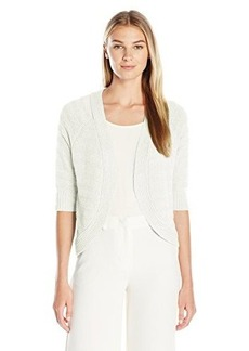 Calvin Klein Women's Striped Texture Shrug