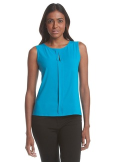 Calvin Klein Woven Pleated Top