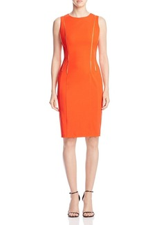 Calvin Klein Zip Detail Sheath Dress