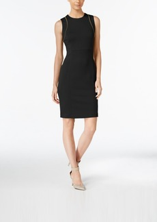Calvin Klein Zip-Detail Sheath Dress