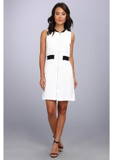 Calvin Klein Zip Front Dress w/ Pocket