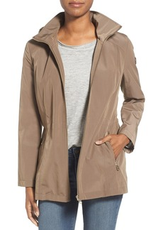 Calvin Klein Zip Front Jacket with Detachable Quilt Lined Hood (Petite)