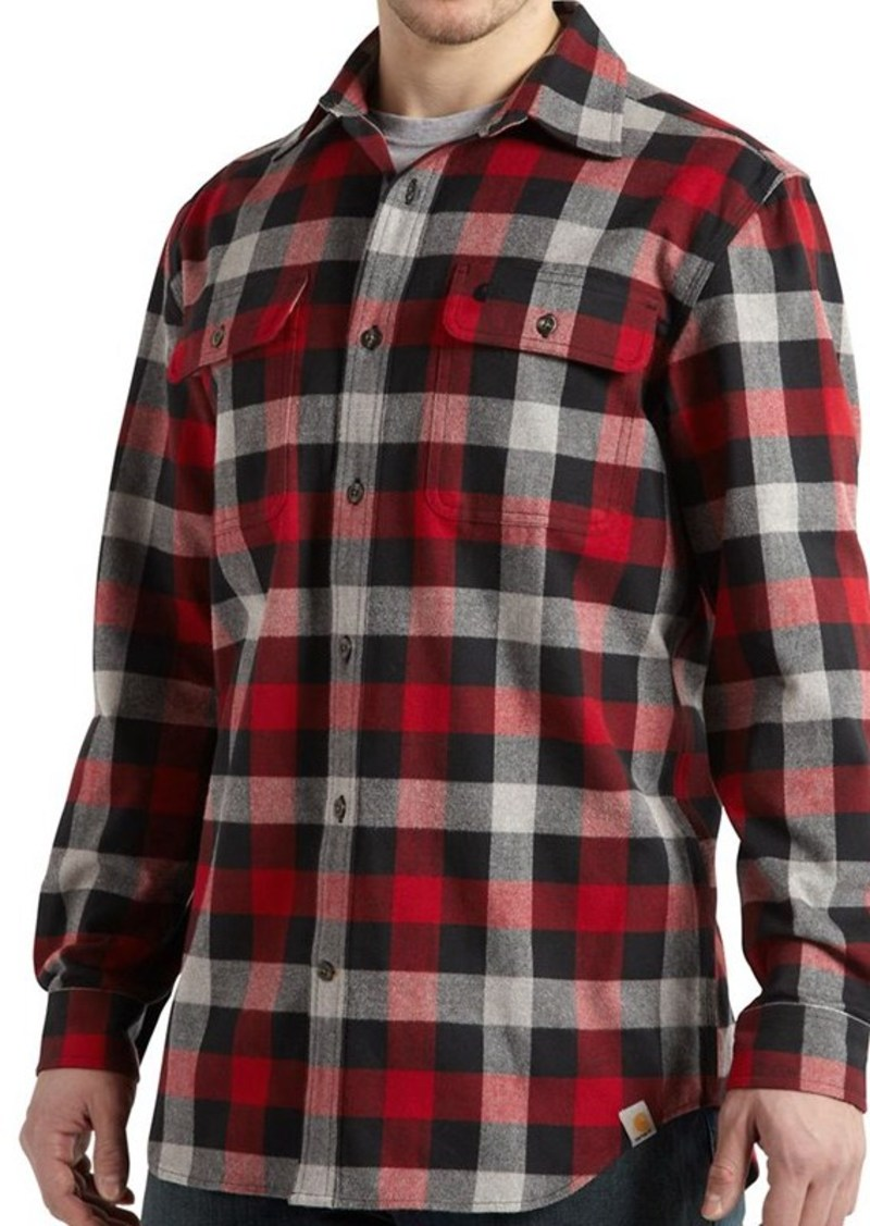 Carhartt carhartt hubbard flannel shirt original fit for Large tall flannel shirts