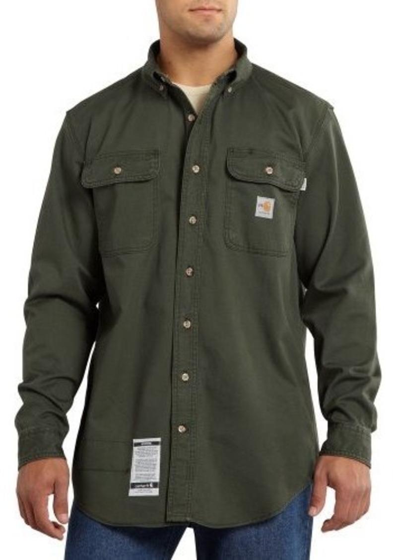 Carhartt carhartt men 39 s big tall flame resistant oakman for Tall mens work shirts