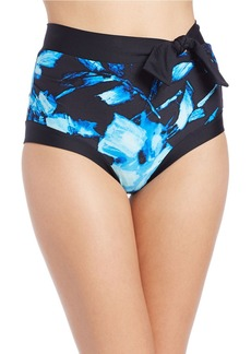 CARMEN MARC VALVO Floral High-Waisted Bikini Bottom