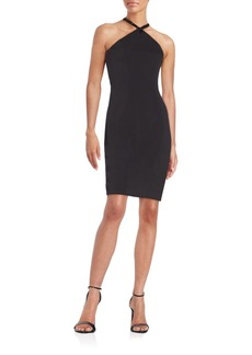 Carmen Marc Valvo Infusion Beaded Princess Seamed Dress