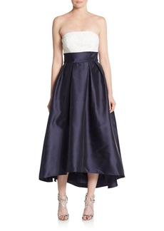 Carmen Marc Valvo Infusion Strapless Midi Gown