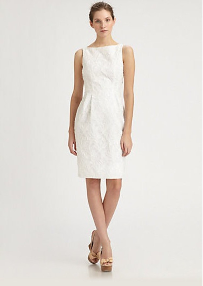 Carmen Marc Valvo Lace Organza Dress
