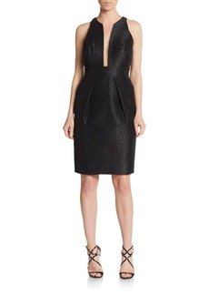 Carmen Marc Valvo Metallic Illusion-Top Dress