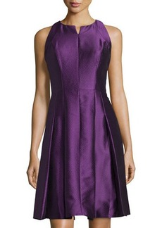 Carmen Marc Valvo Sleeveless Fit-and-Flare Cocktail Dress  Sleeveless Fit-and-Flare Cocktail Dress
