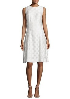 Carmen Marc Valvo Sleeveless Polka Dot Fit & Flare Dress  Sleeveless Polka Dot Fit & Flare Dress