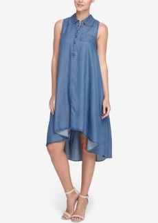 Catherine Catherine Malandrino Robyn Chambray High-Low Shirtdress