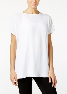 Catherine Catherine Malandrino Terry Cutout-Back Blouse