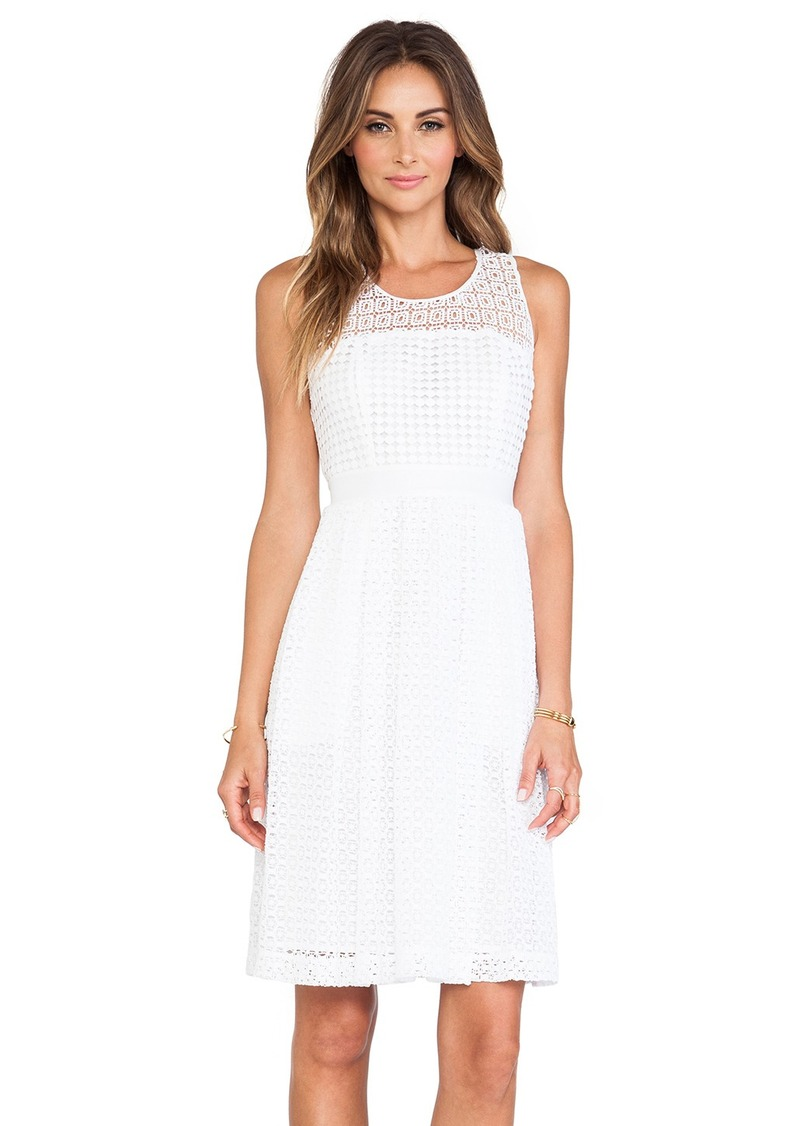 Catherine Malandrino Geri Racerback Fit & Flare Lace Dress