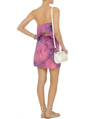 T-Bags Tie-dyed satin-jersey mini dress