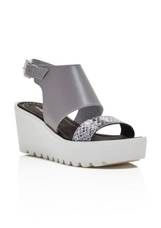 Charles David Apria Lug Sole Wedge Sandals