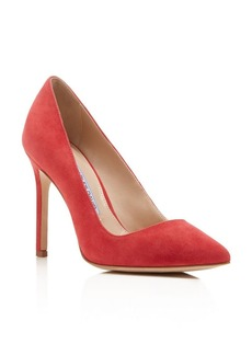 Charles David Caterina Suede Pointed Pumps