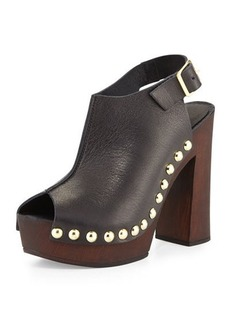 Charles David Ciao Studded Leather Sandal