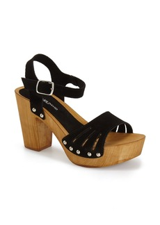 Charles David 'Coco' Wood Platform Sandal (Women)