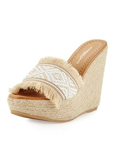 Charles David Dana Fringe Wedge Sandal