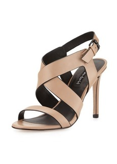 Charles David Ivette Crisscross Leather Sandal