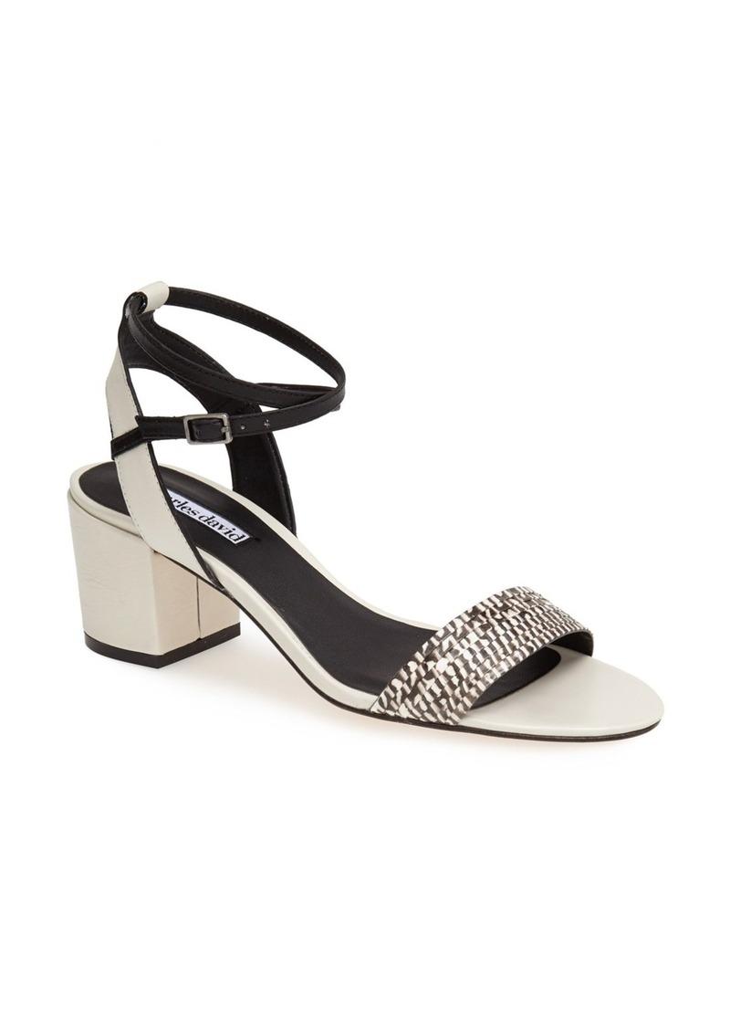Charles David 'Midas' Genuine Snakeskin & Leather Sandal