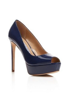Charles David Nivia Peep Toe High Heel Platform Pumps