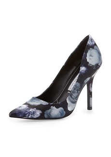Charles David Sway II Rose-Print Leather Pump