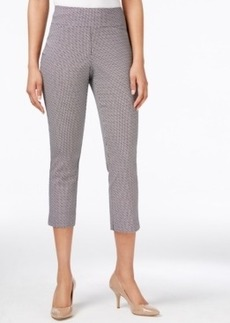 Charter Club Cambridge Pull-On Printed Capri Pants