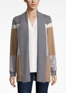 Charter Club Cashmere Colorblocked Cardigan, Only at Macy's