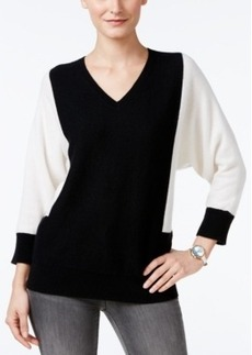 Charter Club Cashmere Colorblocked Sweater, Only at Macy's