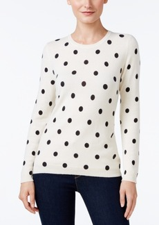 Charter Club Cashmere Polka-Dot Sweater, Only at Macy's