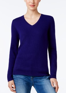 Charter Club Cashmere V-Neck Sweater, Only at Macy's, 18 Colors Available