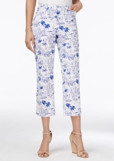 Charter Club Tropical-Print Cropped Pants, Only at Macy's