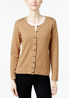 Charter Club Dot-Print Cardigan, Only at Macy's