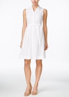 Charter Club Eyelet Shirtdress, Only at Macy's