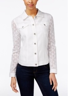 Charter Club Eyelet-Sleeve Button-Front Jacket, Only at Macy's