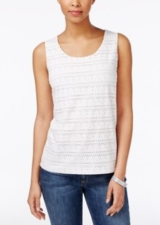Charter Club Eyelet Tank Top, Only at Macy's