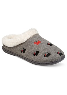Charter Club Faux-Fur Scottie Dog Slippers, Only at Macy's
