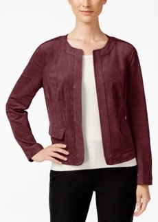 Charter Club Faux-Suede Open-Front Jacket, Only at Macy's