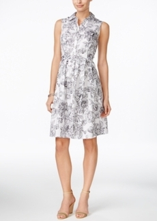 Charter Club Floral-Print Shirtdress, Only at Macy's