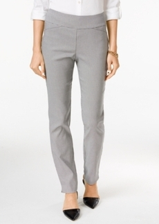 Charter Club Cambridge Houndstooth Straight-Leg Pants, Only at Macy's