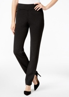 Charter Club Houndstooth Tummy-Control Slim-Leg Pants, Only at Macy's
