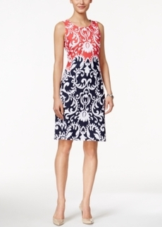 Charter Club Petite Ikat-Print Sleeveless Dress, Only at Macy's
