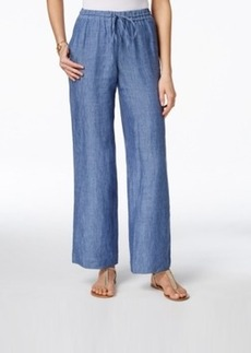 Charter Club Linen Chambray Drawstring Pants, Only at Macy's