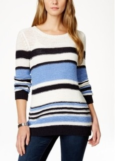 Charter Club Long-Sleeve Striped Tunic Sweater, Only at Macy's